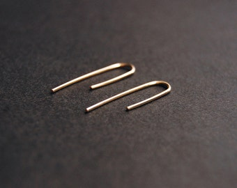 Medium Threader Earrings - gold filled earrings, sterling silver earrings, minimalist earrings, minimal earrings, minimalist gold earrings