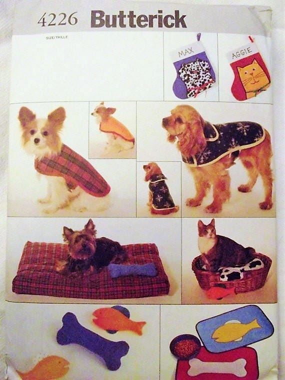 Butterick 4226, Pet Accessories Sewing Pattern, Dog Bed Cat Bed, Pet ...