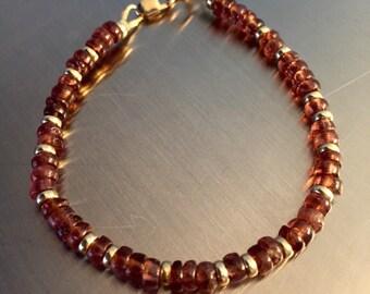 14kt Gold and Pink Tourmaline Bracelet