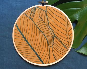 Linen - Lines #52 Leaves Herbarium