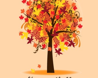 Happy Fall - Digital Print 8x10