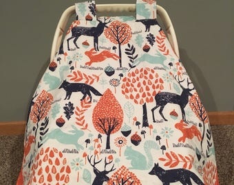 Baby Woodland Car Seat Cover