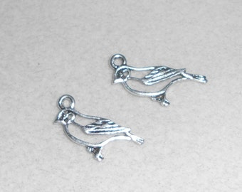 Silver Sparrow / Finch Bird Charms