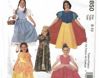 McCalls Costumes Pattern 2850 Children's/Girls' Classic Character Costumes Size 8-10 UNCUT