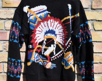 Vintage Native Chief Sweater