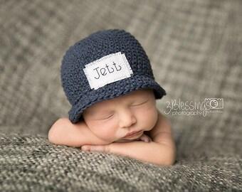 Monogrammed hat, girls hat, boys hat, cotton hat, New baby, baby shower gift, gift