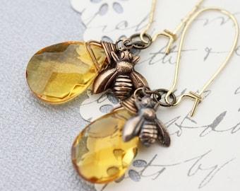 Bee Earrings Honey Bee Earrings Bee Jewelry