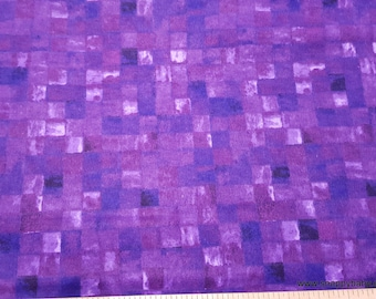 Flannel Fabric - Tile Watercolor Purple - By the yard - 100% Cotton Flannel