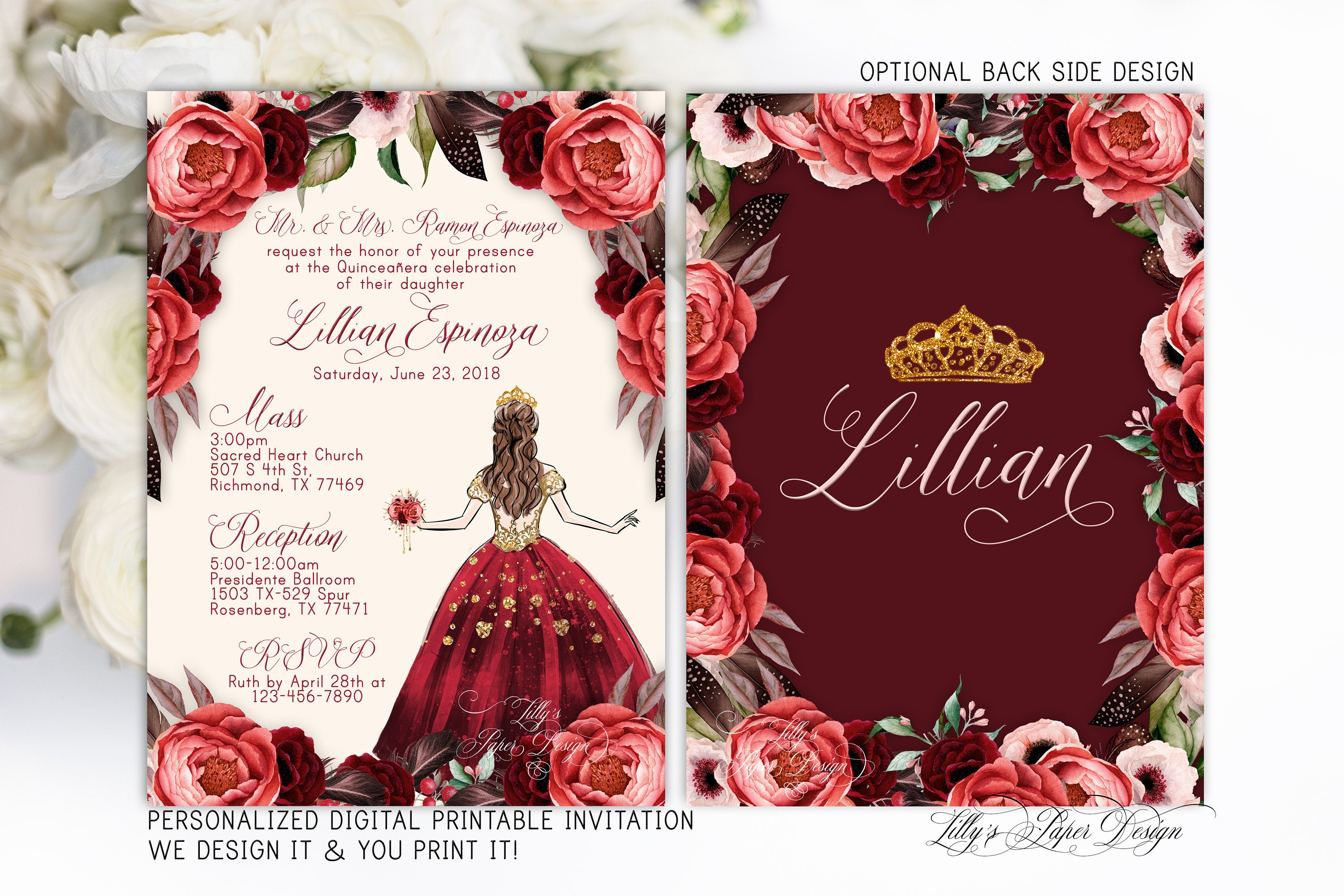 Contemporary Personalized Wedding Invitations Composition ...