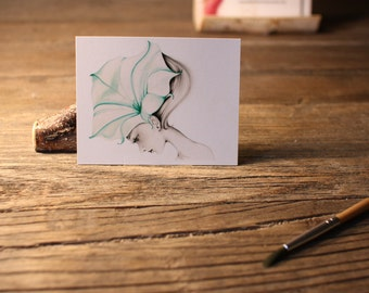"ACEO Print Artist Trading Cards Fine Art ACEO Print of my original Artwork Collectible Mini Artwork She's Called ""Ephemeral"" Gift For Her"