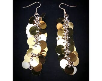 Gold sequined Earrings