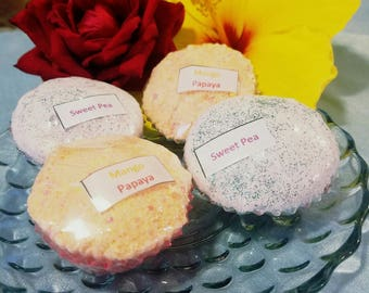 Sale Cupcake Bath Bombs-Gift-Birthday-Coconut Oil-Variety of Colors and Fragrances-Perfect for Kids