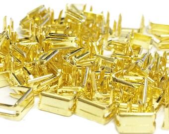 Zipper Repair Kit Solution - Brass Metal Bottom Stoppers for Spiral Slider Bottom Rescue Repair Fit Brass Zipper #5, #7