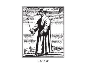 Plague Doctor Rubber Stamp 380