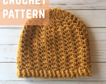 Iris Hat CROCHET PATTERN, Crochet Hat Pattern, Crochet Beanie Pattern, Women's Hat Pattern