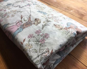 Vintage Quilt Cover-Doona Cover- Single Bed Quilt Cover.Hollie Hobbie-Strawberry Shortcake.