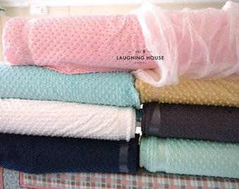 Minky (WHITE) - Minky Dots - Cuddle Dimple - Shannon Fabrics - 1 Yard