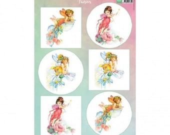 Cutting, cutting, 6 images of fairies, Fairies, Marianne Design, scrapbooking, cardmaking, crafting