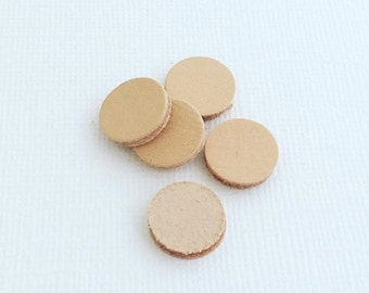 Small Leather Disc to add to our 20mm Stainless Steel Lockets - Aromatherapy Disc - Diffuser Disc