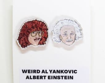 Geniuses Acrylic Earrings