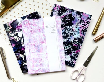 Set of Notebooks, School Supplies, Notebook Set, A5 Set of 3 Notebooks with Plain Pages, Colourful Pretty Notebook Set, Blank Page Notebook