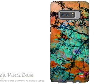 Southwest Galaxy Note 8 Case - Abstract Art Case for Samsung Galaxy Note 8 - Southwest Sunset- Orange and Turquoise Premium Dual Layer Case
