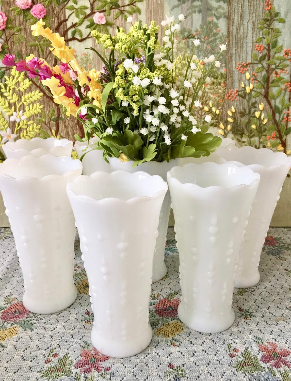 Milk glass vase hobnail milk glass hobnail vase wedding zoom reviewsmspy