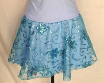 Cinderella skirt embroidered organza