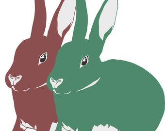 Red & Green Rabbits