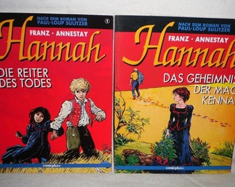 Hannah-Volume 1 and 2-Beautiful condition-comic +-vintage comic