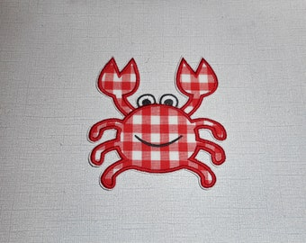 Crab   Ready to Ship Machine Embroidery iron on applique