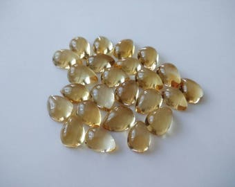 10 Pcs Natural Citrine Pear Cabochon 14X10 MM