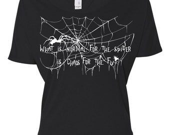 Spider and Fly Open Back Shirt