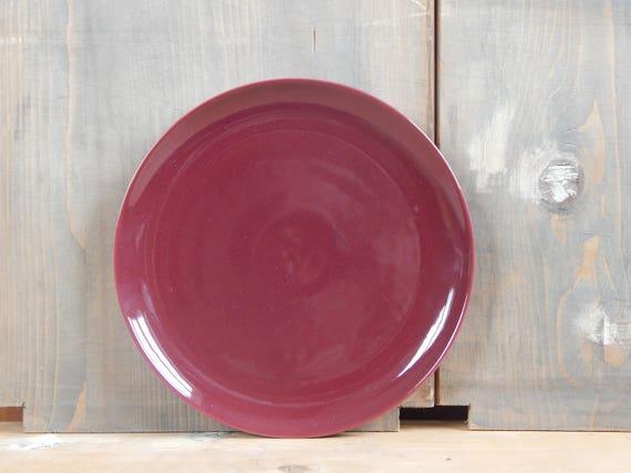 & Scandinavian Vintage Höganäs Keramik Purple Dinner Plate