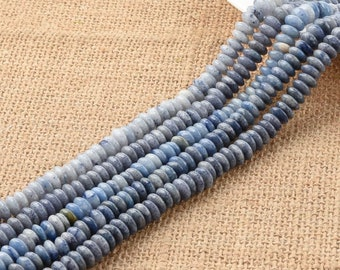 Natural Blue Sodalite Stone Rondelle Beads 4*8mm