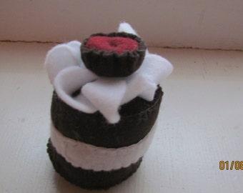felt chocolate dessert
