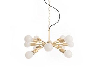 "Mini Mid-Century ""Sputnik"" inspired chandelier"