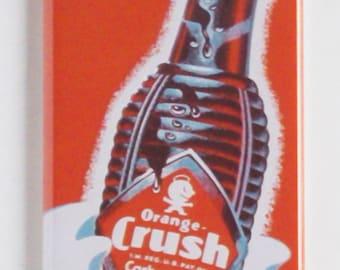 Orange Crush Soda Sign Fridge Magnet