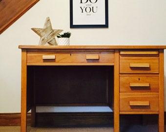 vintage office desk. sold vintage teachers desk! retro, solid oak, children\u0027s desk. office desk