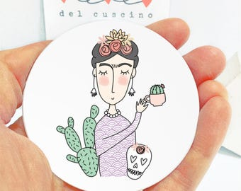 Rétroviseur «Frida Kahlo»