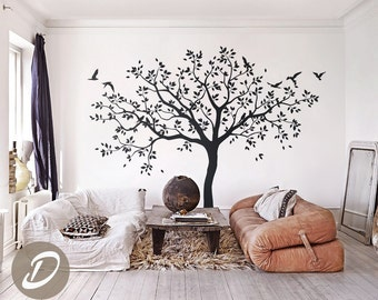 Large Tree Wall Decals Trees Decal Nursery Tree Wall Decals, Tree Mural,  Vinyl Wall Decal AM017