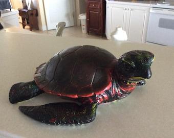 Painted Turtle in Ceramic