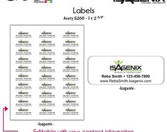 Isagenix Labels - Digital File