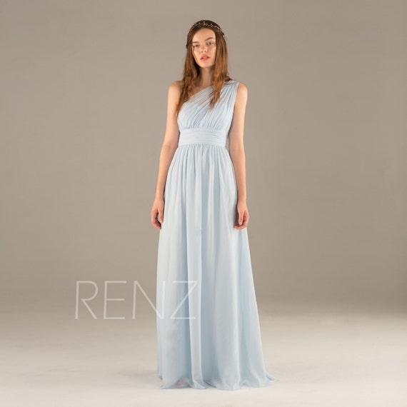 Light Blue Chiffon Blue
