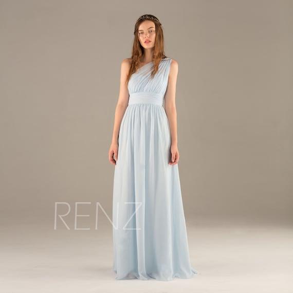 Baby Blue Chiffon Dress