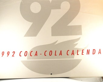 1992 Coca Cola Olympics Calendar Coca Cola Advertisements Olympic Picture Calendar Coca Cola Olympic Sponser