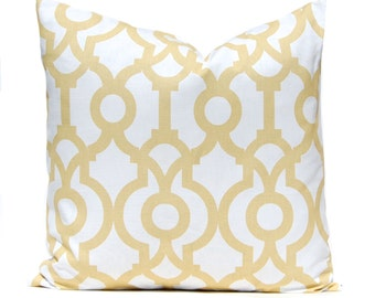 Pillow - Pillow Covers - Soft Gold and White - Throw Pillow Covers - Living Room Cushions - Apartment Decor - Sofa Pillows