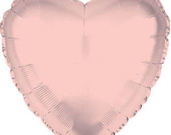 "Rose Gold Heart Balloon 18 or 36"""