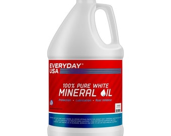 Food-Grade White Mineral Oil - Pure  1 Gallon Bottle, by Everyday USA®