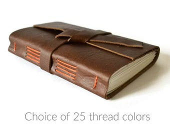 Leather Bound Journal, Lined Leather Journal Personalized Travel Journal, Leather Writing Journal, Leather Gift for Men